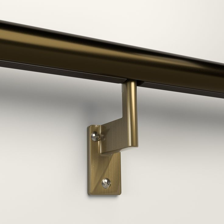 L-bracket for Promenaid handrails. Patented twist-lock brackets easily pivot for slopes and support over 500 pounds each.