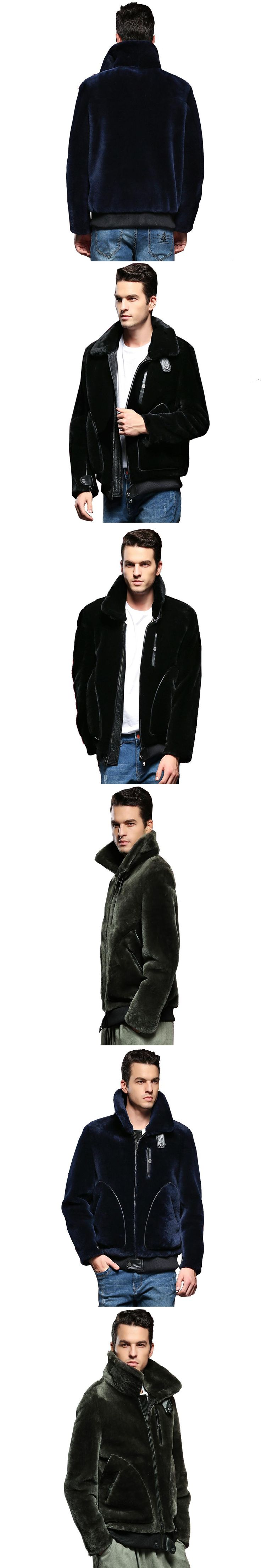 Quality Guaranteed Real Sheepskin Fur Coat Genuine Leather Male Formal Thick Winter Clothing Sheepskin Jacket Men Fur Outwear