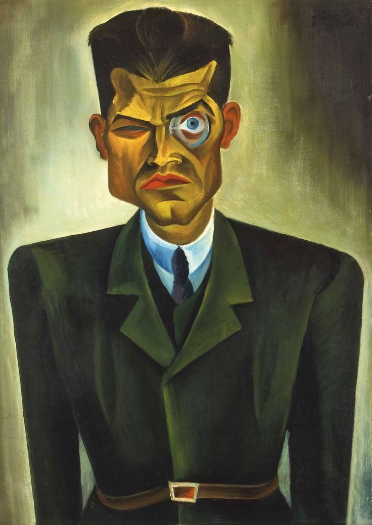 Conrad Felixmüller - Portrait of Raoul Hausmann, 1920