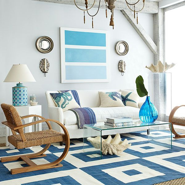 Seaside inspired in aqua, blue and turquoise. With...