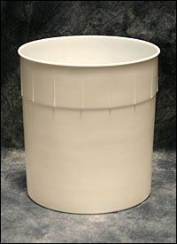 3 Gallon Ice Cream Tub & Lid - HDPE Plastic Containers & Covers