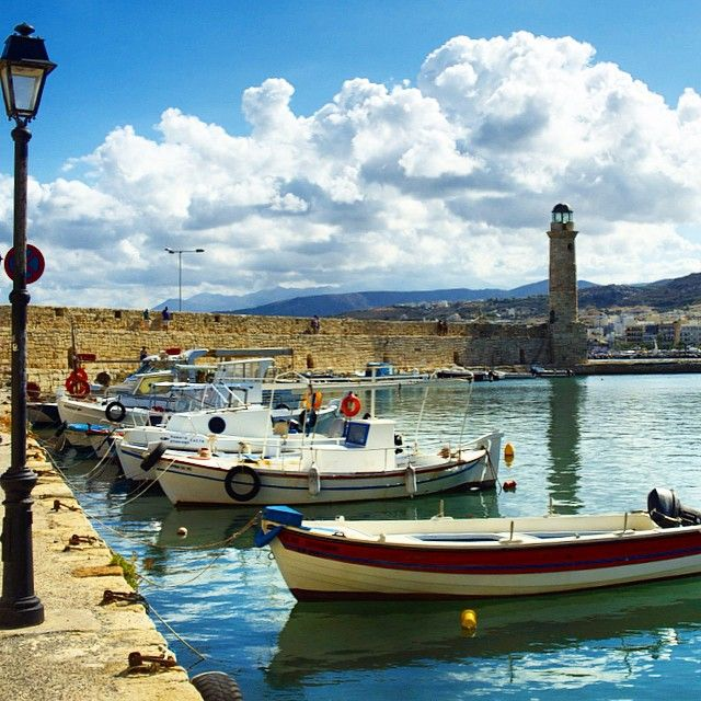 #Rethymno #port #Crete #Greece  Photo credeits: @dgokonda