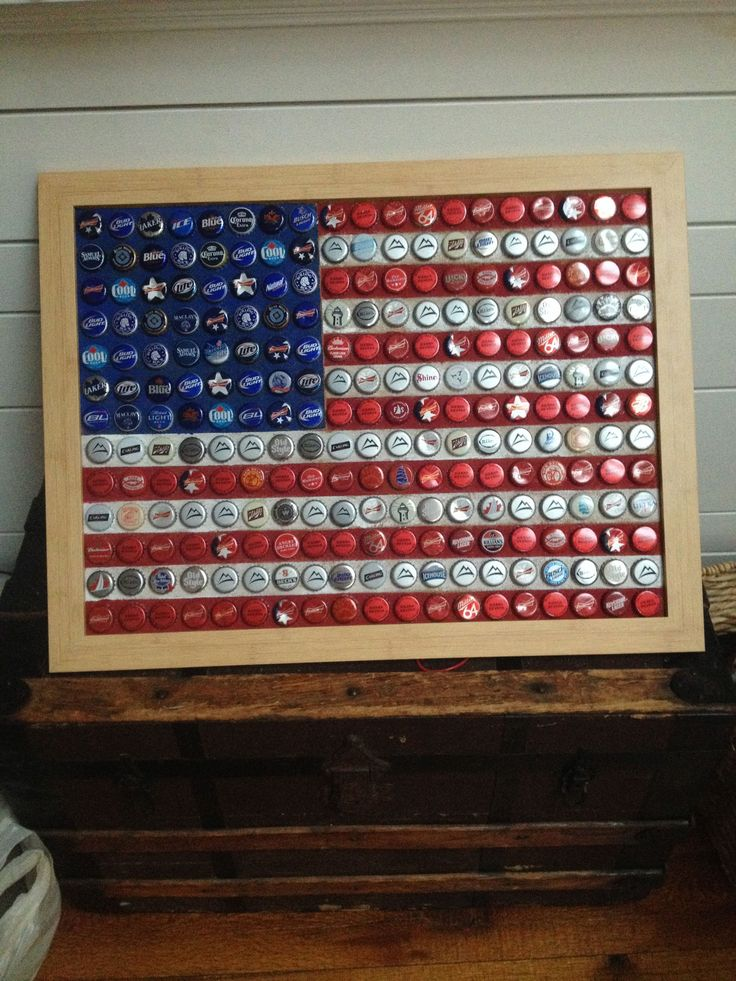 17 best images about can tin bottle caps crafts on for Beer bottle picture frame