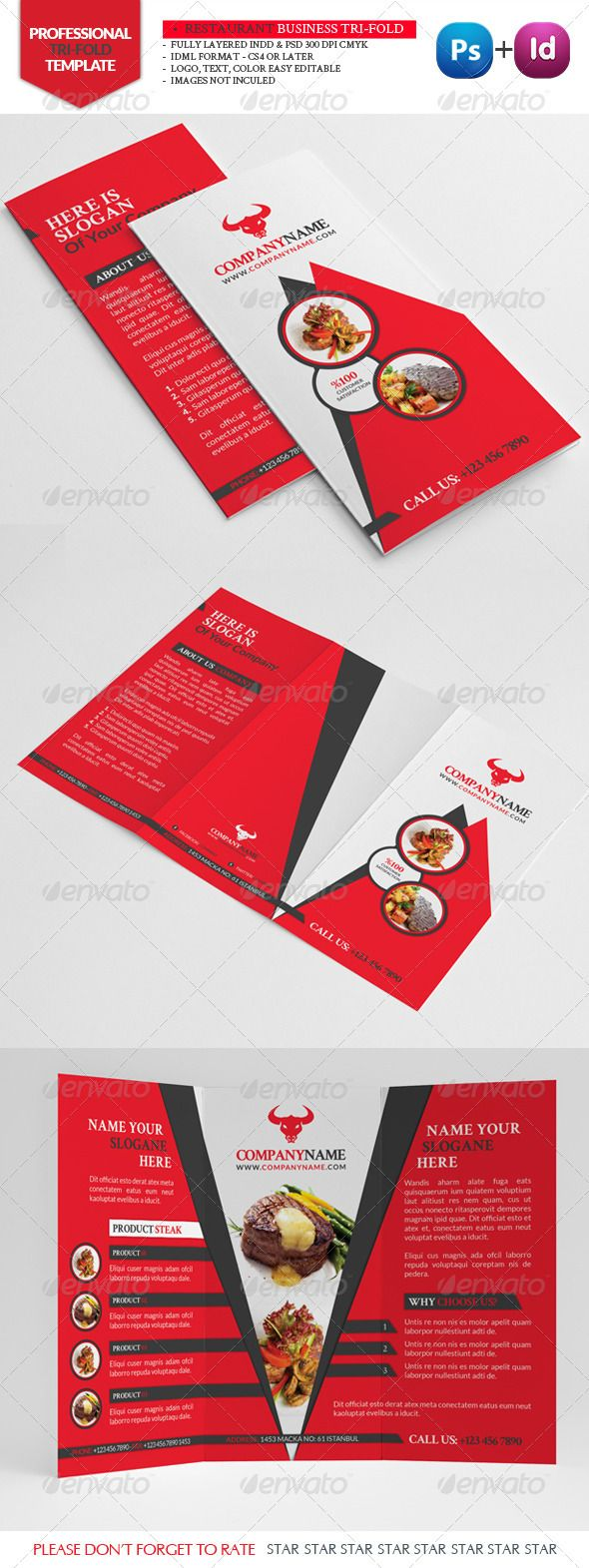 Best Premium Brochure Templates Images On Pinterest Brochures - 85x11 tri fold brochure template