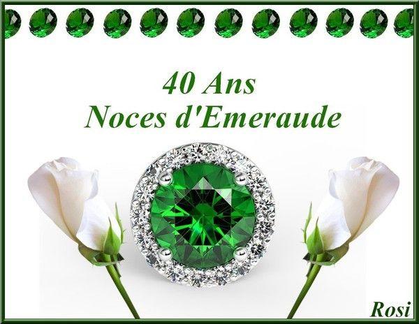 Texte 40 Ans De Mariage Noces D émeraude