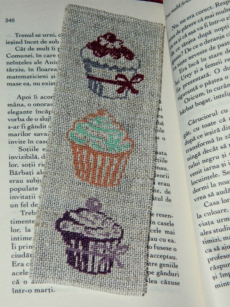 Handmade bookmark with cookies <3