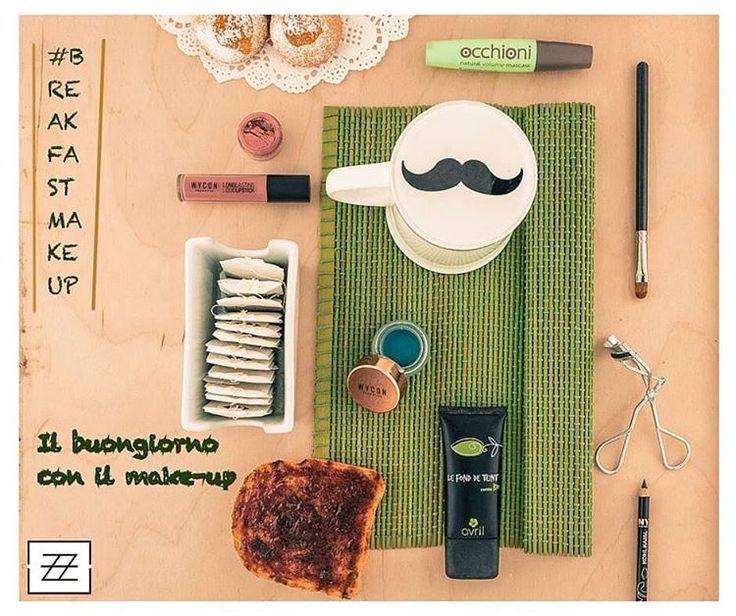 """- Fondotinta #ecobio della linea #Avril,  - Sugli occhi un tocco di colore diverso dal solito, Intense Eyeliner di #wycon nella colorazione Ottanio. Da usare solo come Eyeliner? - Matita Occhi """"Chocolate Brown"""" di #nyc NYC New York Color - Mascara #Occhioni di #nevecosmetics -Piegaciglia - Fard in polvere libera Urban Fairy #truccominerale sempre di Neve Cosmetics - Tinta """"Nude"""" di WYCON Cosmetics  #muotd"""
