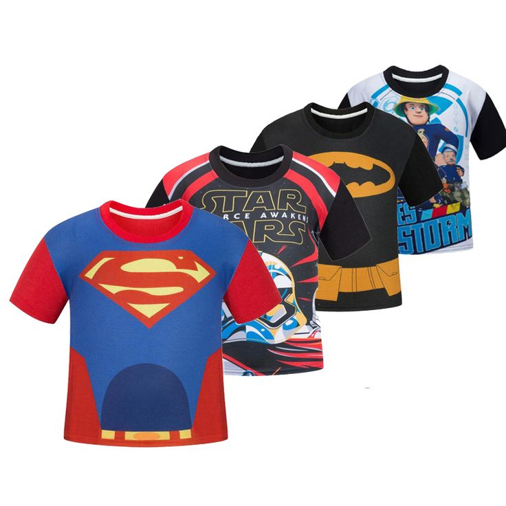 T-Shirts Super Heroes and Cartoons Girls Boys Clothes Children Clothing //Price: $14.39 & FREE Shipping //