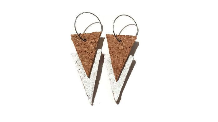 Picture- cork earring