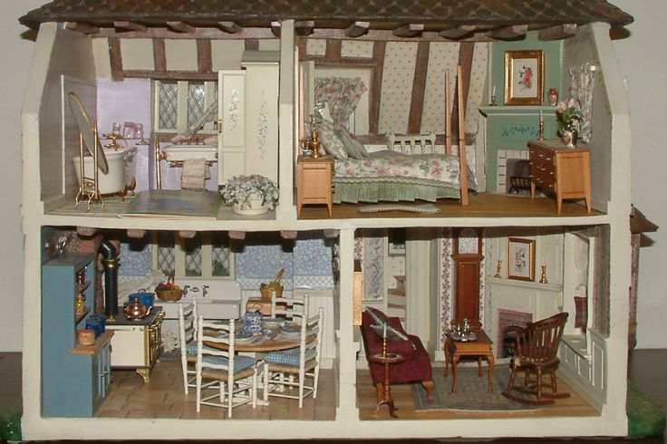 I Couldn T Resist This Vintage Colonial Dollhouse From The: Http://www.treasurekeeper.com/lot/lot5000/5007-g.jpg