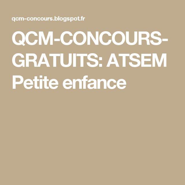 QCM-CONCOURS-GRATUITS: ATSEM Petite enfance