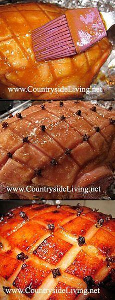 Свинина, запеченная в духовке в фольге сочная. Рецепт, фото. Окорок