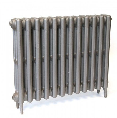 3 Column 645mm cast iron radiator, 12 sections in Mid Grey Sparkle £259 BTU4296