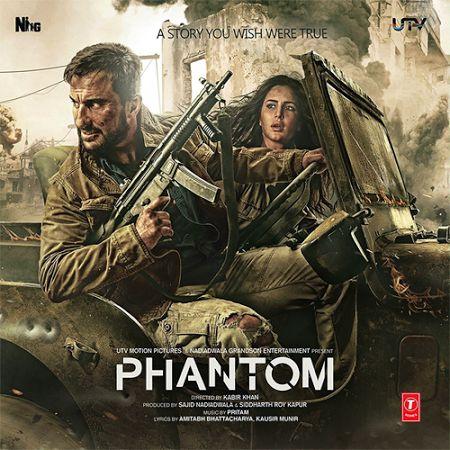 Phantom (2015) DVDScr Hindi Movie Download, Bollywood Movie Phantom DvdScr, PDvd, ScamRip, DvdRip, BRRip, Mobile Movie, Saif Ali Khan, Katrina Kaif, Hindi Film