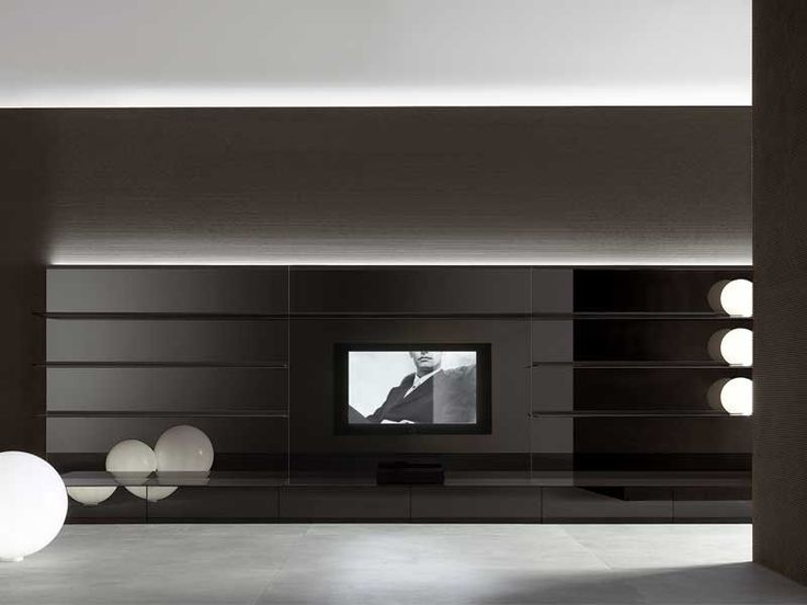 rimadesio completely black living room furniture - Tv Wall Panels Designs