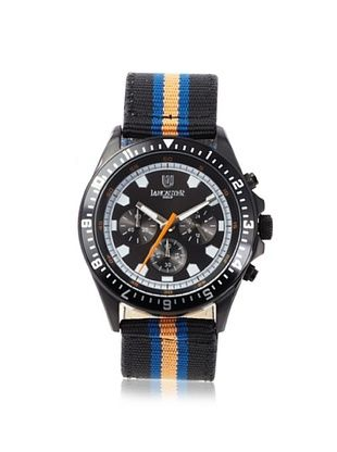 Lancaster Men's OLA0483BKNR-BL-RSBL Chronograph Black Dial Striped Fabric Watch