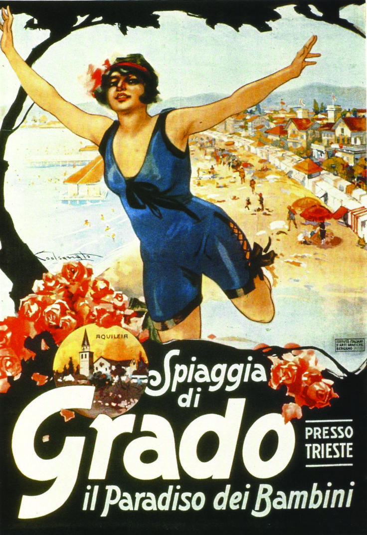 Grado, Italy ~ children's paradise | Vintage Italian Travel and Ad Po ...