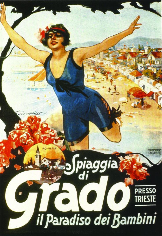 Grado, Italy ~ children's paradise | Vintage Italian Travel and Ad Po ...