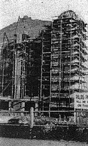 Palais Theatre during construction c1926.