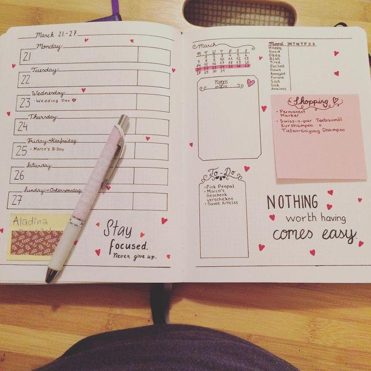 """""""Done with next weeks spread! #bulletjournal #bulletjournaling #bujo #journaling #weekly #weeklyspread #planner #bulletjournaljunkies"""""""