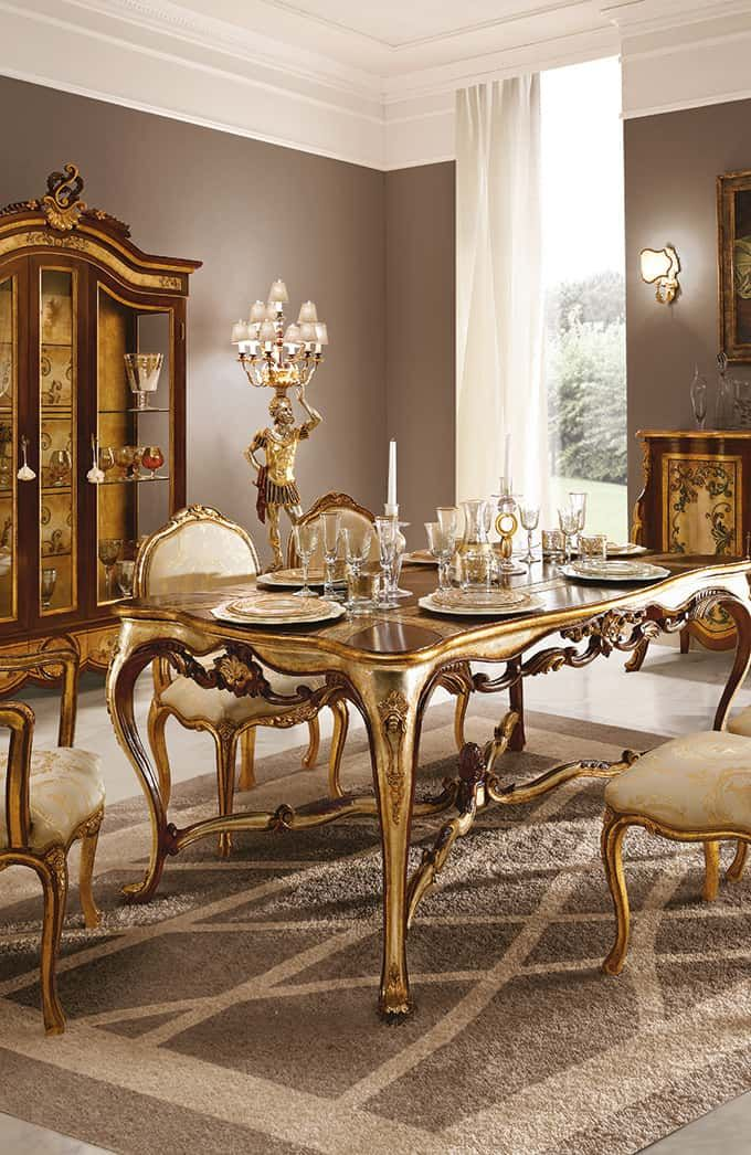 Classic Wood Dining Room Handmade Luxury Furniture Classic