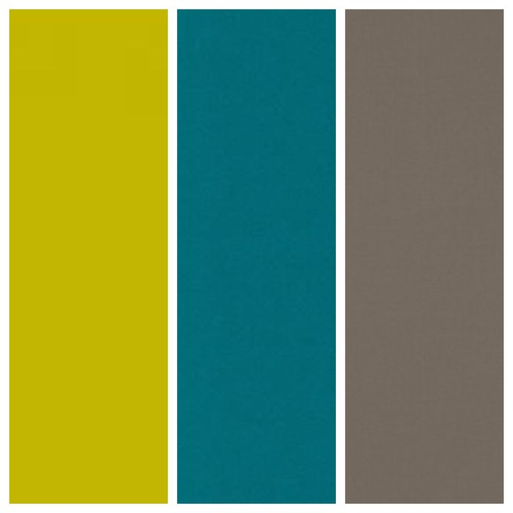 I am in love with the color chartreuse!!! Color scheme: chartreuse, teal, taupe