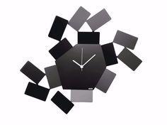 LA STANZA DELLO SCIROCCO Steel clock La Stanza dello Scirocco Collection by ALESSI design Mario Trimarchi