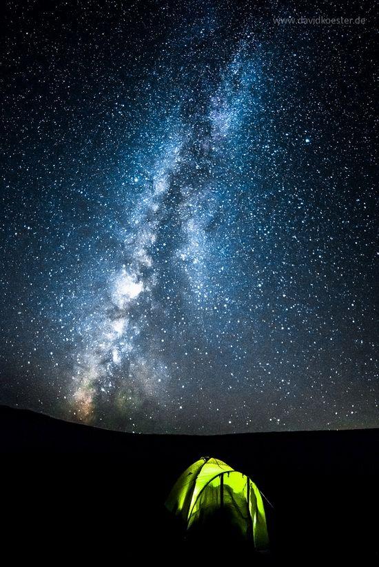 Camping under the Milky Way in Kazakhstan