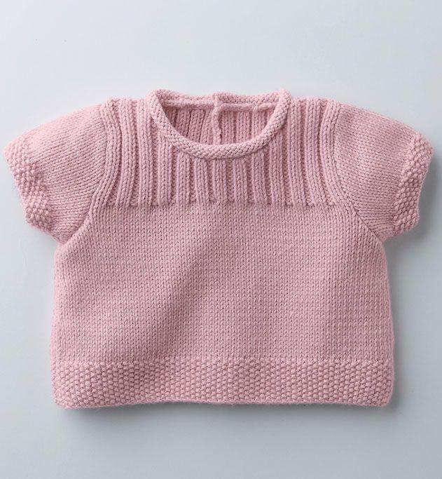 Modèle brassière ou pull bébé - Modèles Layette - Phildar
