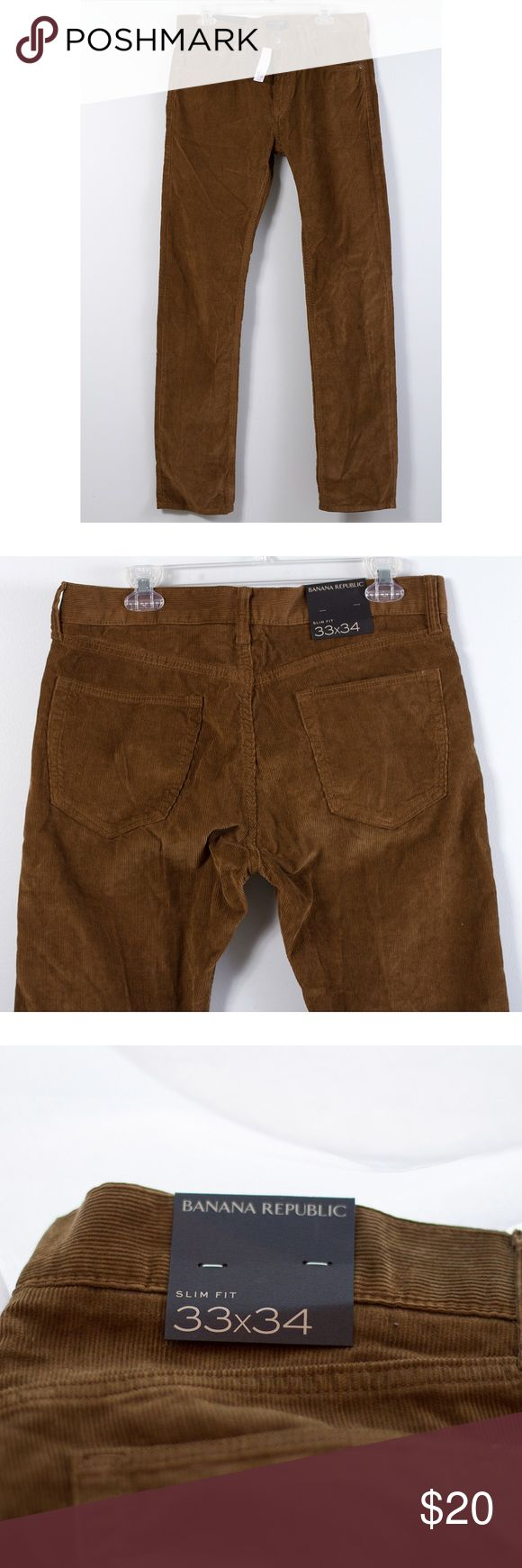 Banana Republic Men's Corduroy Pants ❗️PRICE FIRM Perfect color for fall!  Men's slim fit corduroy pants by Banana Republic.  Brand new with tags.  Men's size 33x34.  ‼️Price on attached tag is $70 so firm on price for this item. Thanks!‼️ Banana Republic Pants Corduroy