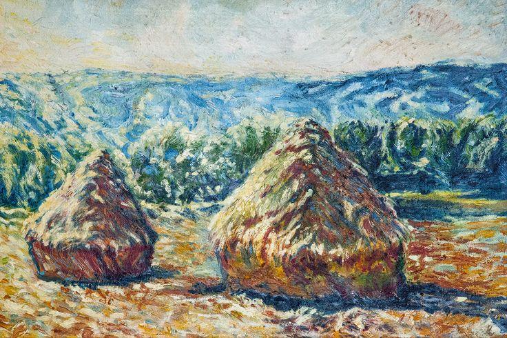 Kopy sena, olej na kartóne 47 x 70 cm, Pavel Huszár, Banská Bystrica, Slovakia