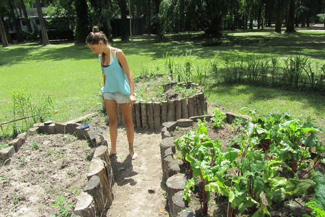 Huerta organica buscar con google huerta pinterest for Antorchas para jardin caseras