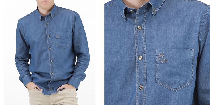 En nuestra tienda online podrás encontrar prendas como nuestra nueva camisa vaquera, con ese torito minimalista http://www.pieldetoro.com