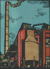 Smith, Charles W - PulpMill WestPoint - ca1930 colored linoleum