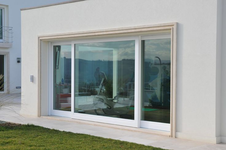 Finestra alzante scorrevole in legno/alluminio laccato