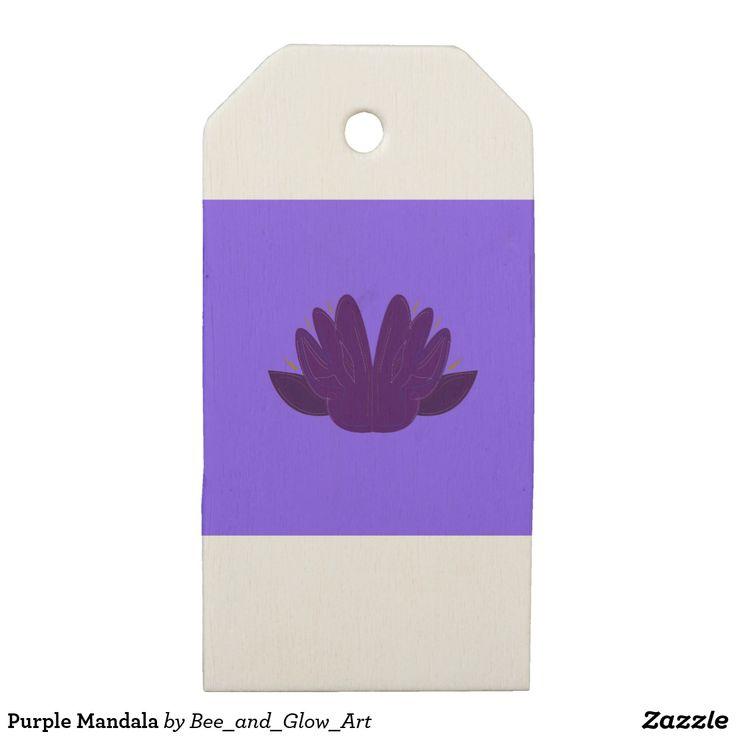 Purple Mandala Wooden Gift Tags