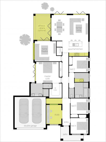 Clovelly upgrade floor plan
