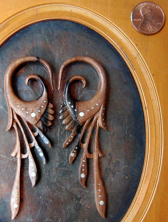 Mohegan 4 gauge Ear Plugs by opulentantiquity on Etsy, $65.00
