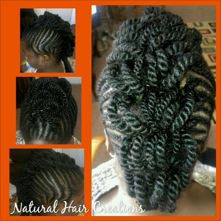 Cornrows Braids Twists Mohawk Style Natural Hair