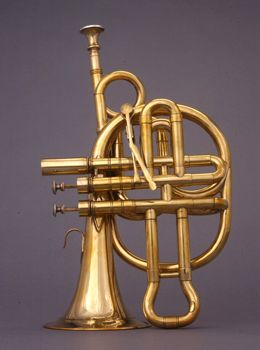 NMM 10508. Cornopean in B-flat by Thomas Key, London, ca. 1845. Joe R. and Joella F. Utley Collection, 2003.