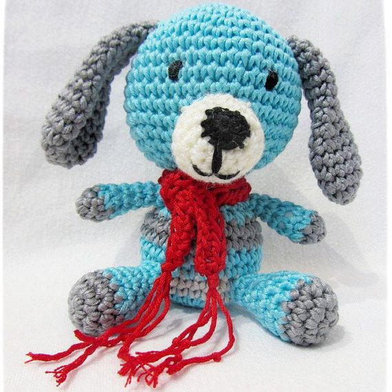 Crochet Amigurumi Little Baby Dog Toy by ResNaturalis on Etsy  take a look on my shop: https://www.etsy.com/shop/ResNaturalis?ref=hdr_shop_menu