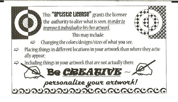 """""""Artistic License"""".....love this and great idea for students to encourage their artistic individuality...!"""