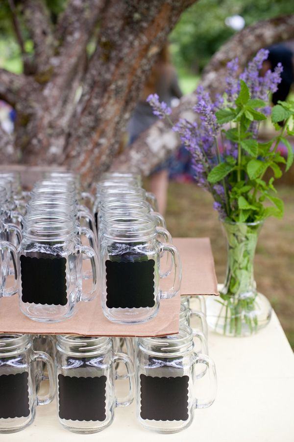 I love this idea for personalizing cups when you have guests over.