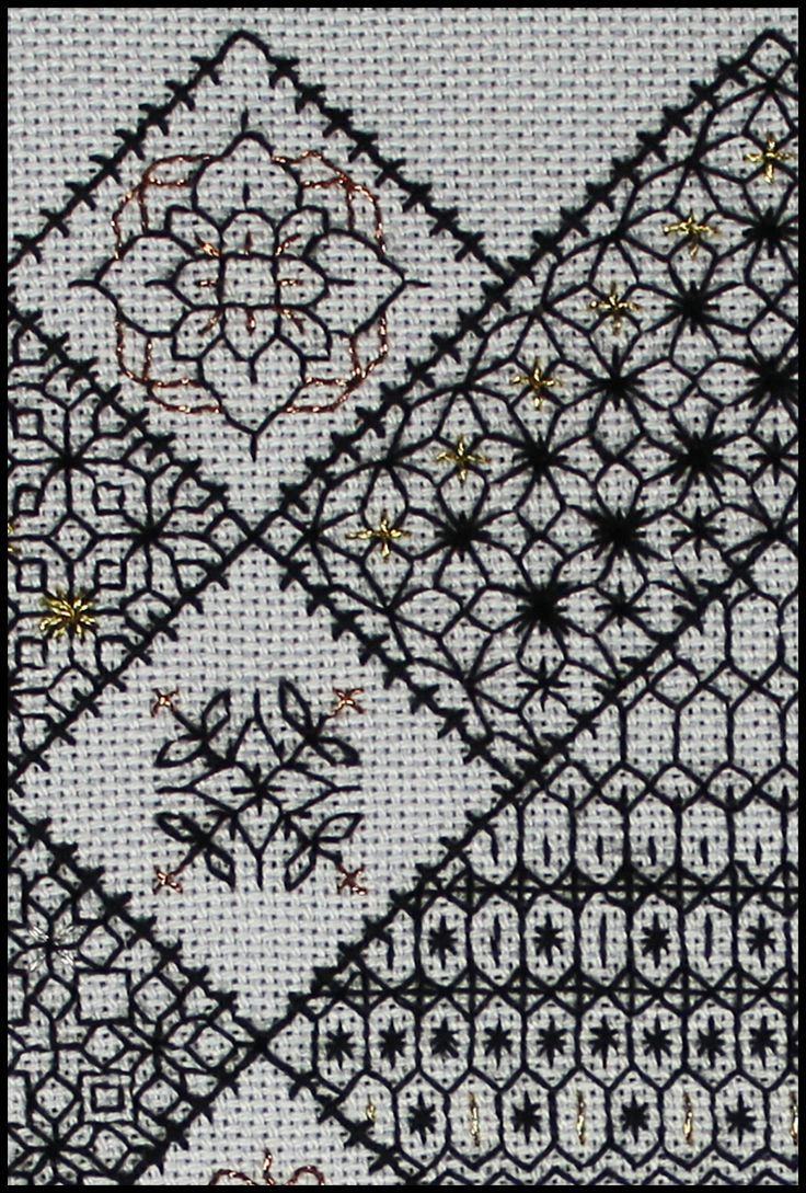 Extract from Block 2 Save the Stitches www.blackworkjourney.co.uk