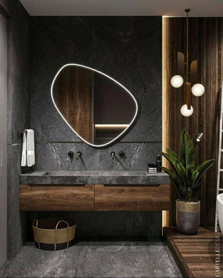 Badezimmer Badmobel Badezimmermobel Badmobel Set Spiegelschrank Bad Badezimmerschrank Badspiege In 2020 Bathroom Design Luxury Natural Bathroom Bathroom Interior