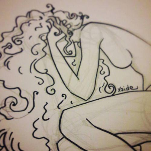 Disperazione…. work in progress. #sketch #scarabocchi #scarabocchio #schizzo #disegno #drawing #drawings #draw #wip #workinprogress #disperazione #disperation #hair #capelli #lineart #girl #ragazza