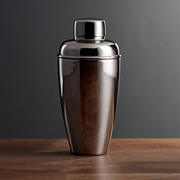 Stainless Steel Cocktail Shaker with Graphite Finish | Crate and Barrel