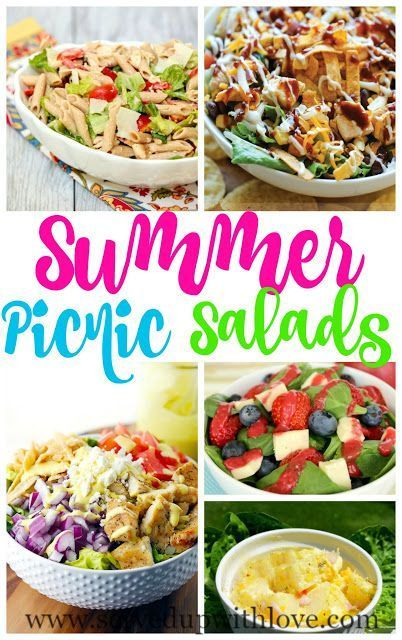Summer Picnic Salads recipe roundup from Served Up With Love. A big list of salad recipes that are perfect for summer picnics in the park. www.servedupwithlove.com