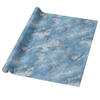 #Blue Digi Camo Wrapping Paper - cyo customize do it yourself diy