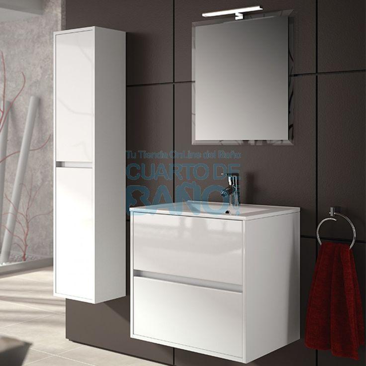 mueble de bao noja salgar 70 cm blanco brillo con lavabo 17282 ofertas muebles de - Muebles De Cuarto De Bao Baratos